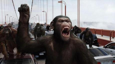 "A scene from ""Rise of the Planet of the Apes."""